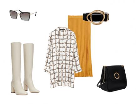 Если ты хочешь, чтобы в твоем гардеробе появилась плиссированная юбка, то выбирай модели из трикотажных материалов. Верхняя одежда и обувь должны быть в светлых, пастельных тонах, чтобы оттенить яркий акцент твоего образа.