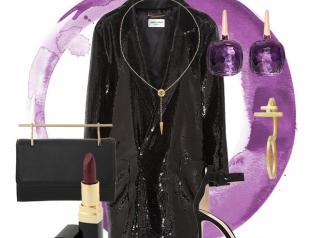 Образ на Новый год: платье-жакет в пайетках
