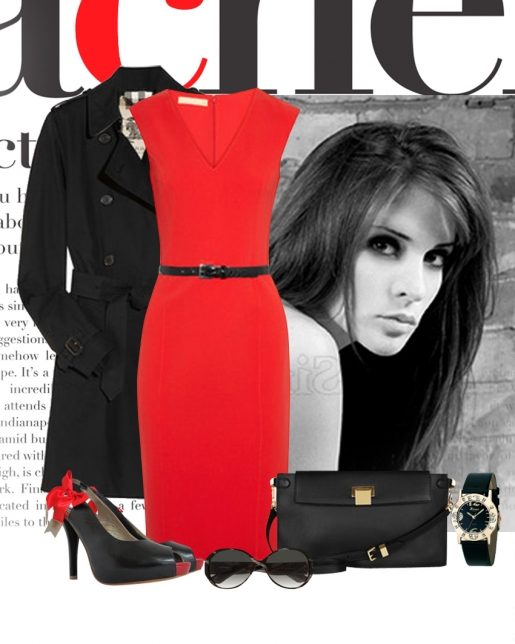 Черное и красное - всегда беспроигрышное сочетание! Если у Вас в шкафу пылиться красное платье - смело доставайте его, добавьте черную верхнюю одежду, черные классические туфли и клатч. Вы обязательно будете в центре внимания!