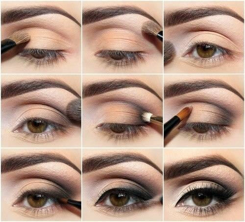 Красивый макияж для серо голубых глаз, повседневный и