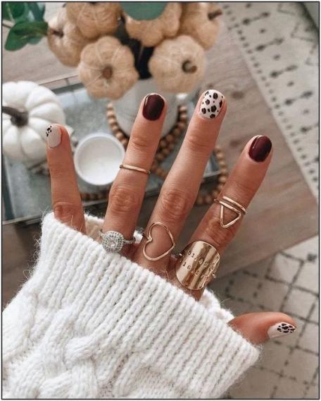 Модный осенний маникюр для коротких ногтей (ФОТО + ВИДЕО) - Красота