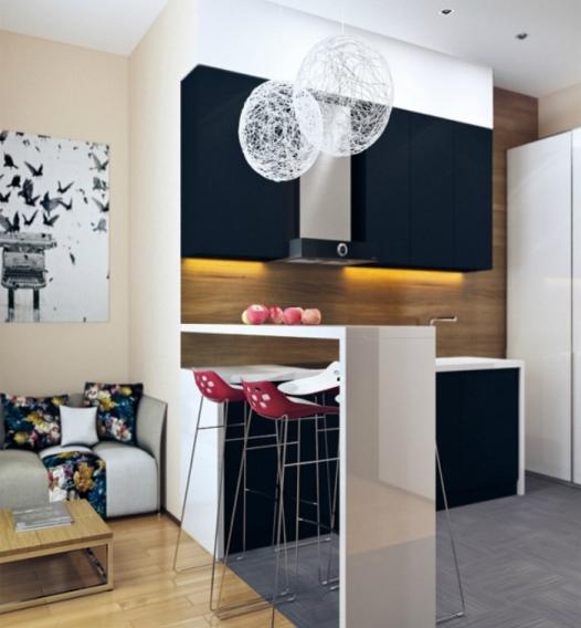 идеи дизайна кухни с барной стойкой фото интерьера кухни с барной