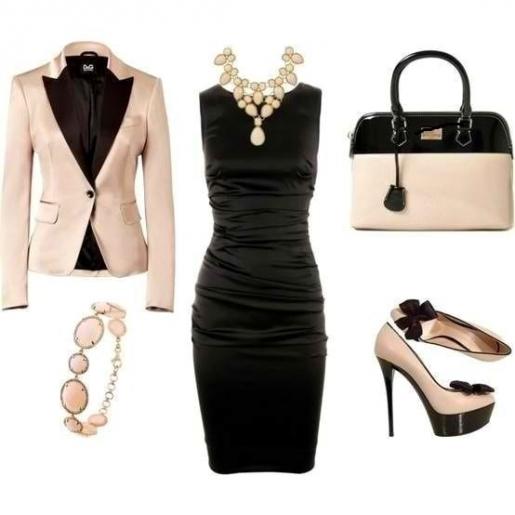 Этот образ шикарный, богатый и стильный. Одевшись по схеме, вы станете объектом желания и зависти.