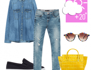 С чем носить джинсы по погоде