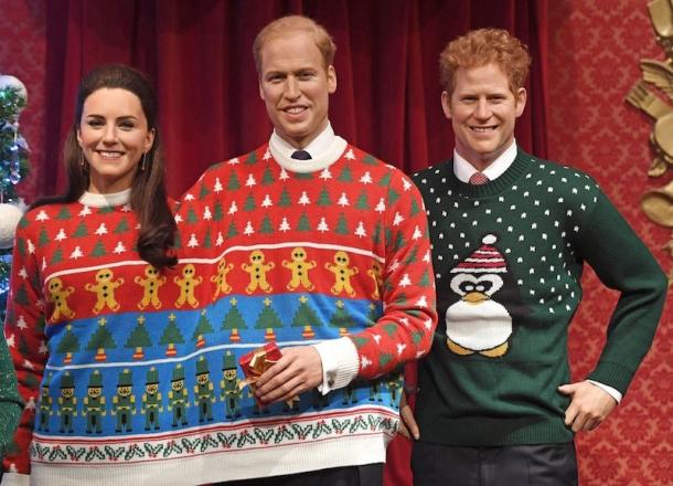 Восковая королевская семья похвасталась рождественскими свитерами (ФОТО) - фото №1