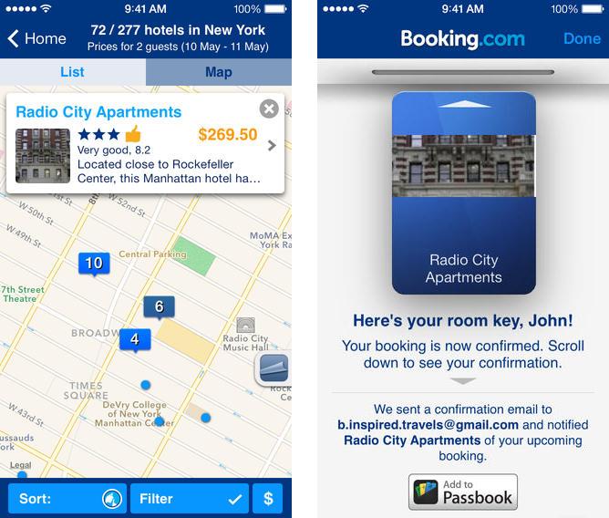 Приложение Booking.com