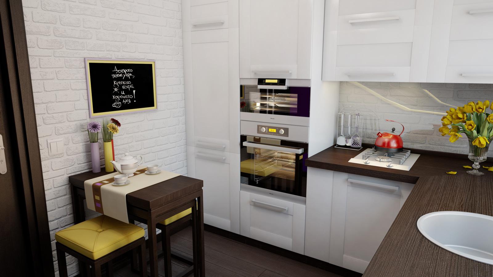 Маленькая кухня: как визуально увеличить пространство - фото №1