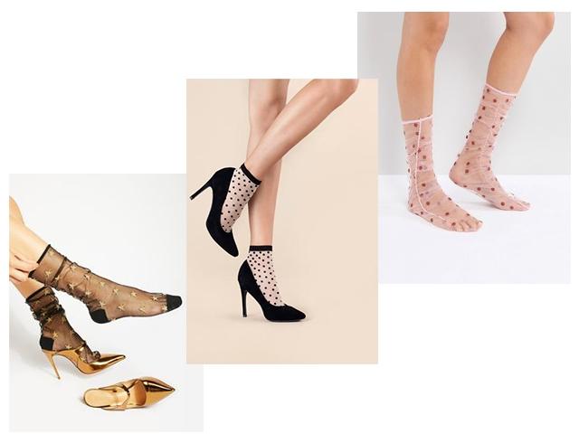 Очень нежно: как носить и сочетать прозрачные носки с узором - фото №1