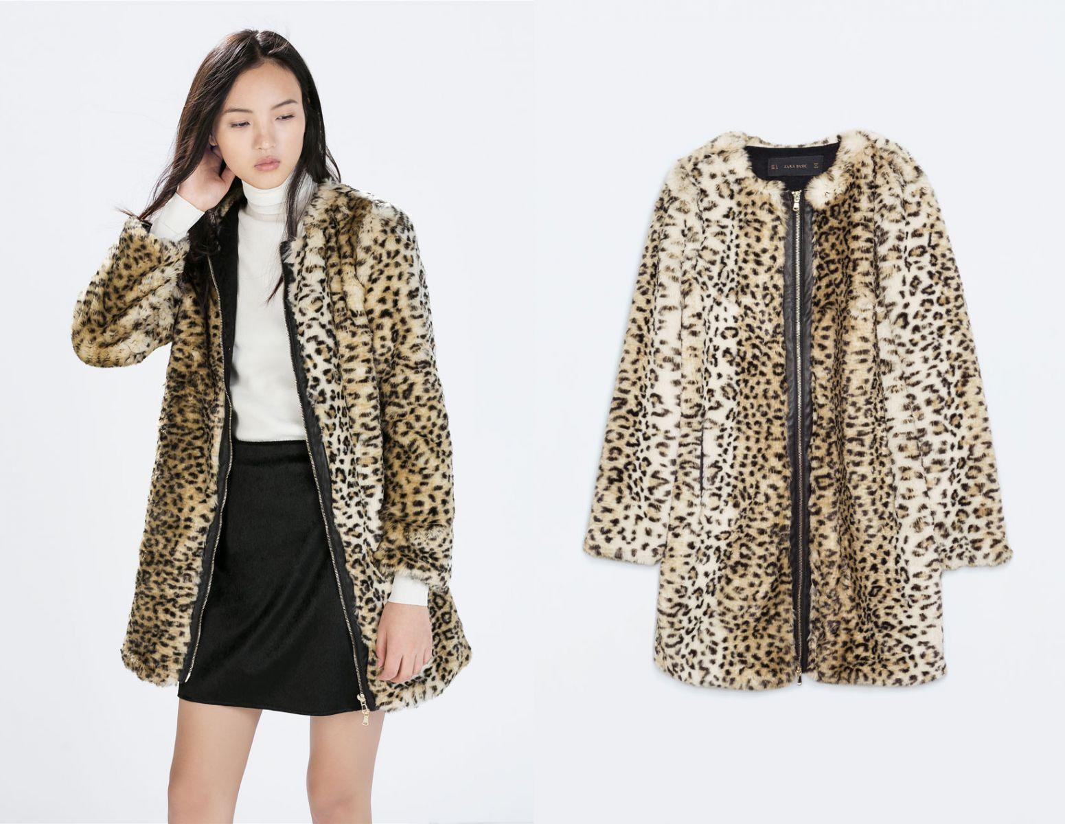 Пальто с леопардовым принтом Céline - фото №2
