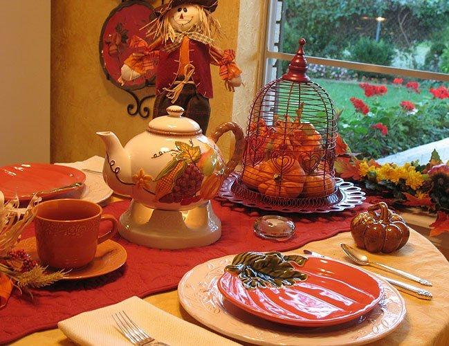 Осенняя сервировка стола: особенности - фото №1
