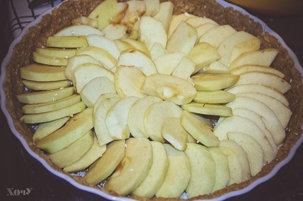 овсяный пирог с яблоками как приготовить