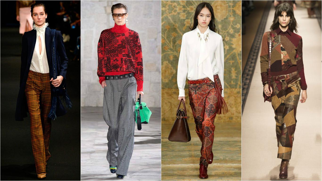 Модные брюки на зиму