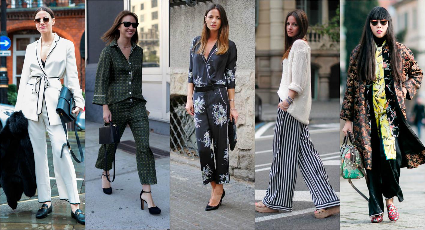 как носить модно пижаму