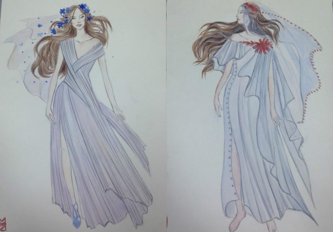 Свадебное платье для Регины Тодоренко. Спецпроект (эскизы+комментарии стилиста) - фото №25