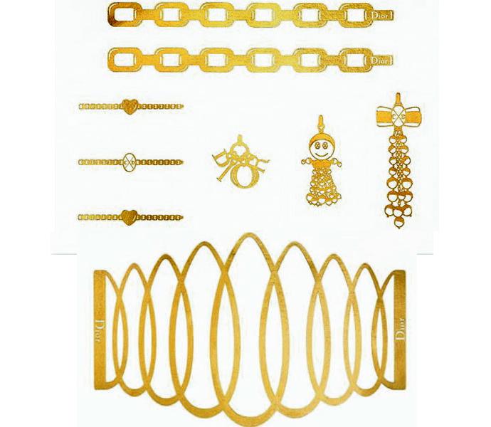 Дом Dior выпустил золотые наклейки к Рождеству - фото №1