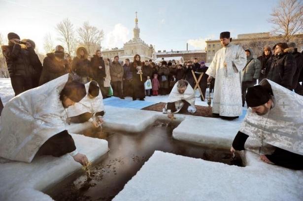Крещение прорубь Киев 2019