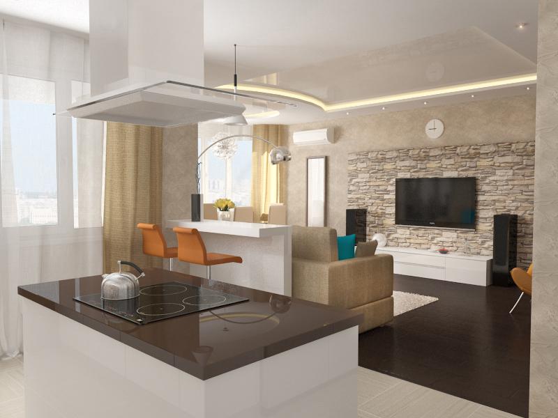 Как оформить квартиру-студию: 5 правил интерьера open-space - фото №2