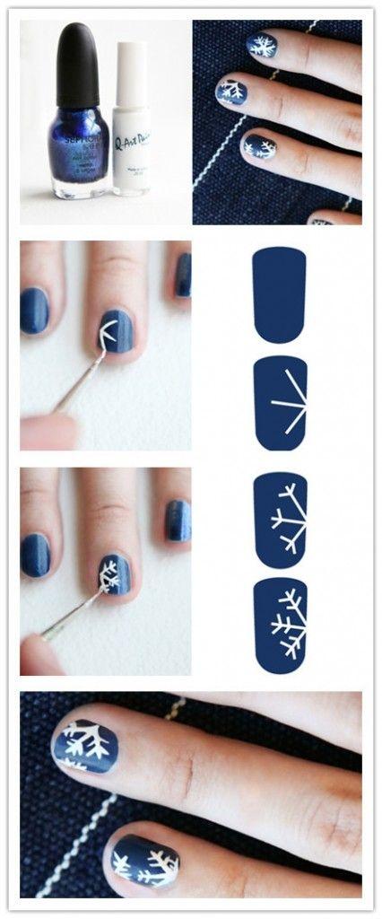 Маникюр со снежинками: 45 лучших идей модного дизайна ногтей + как нарисовать в домашних условиях (фото, видео) - фото №4