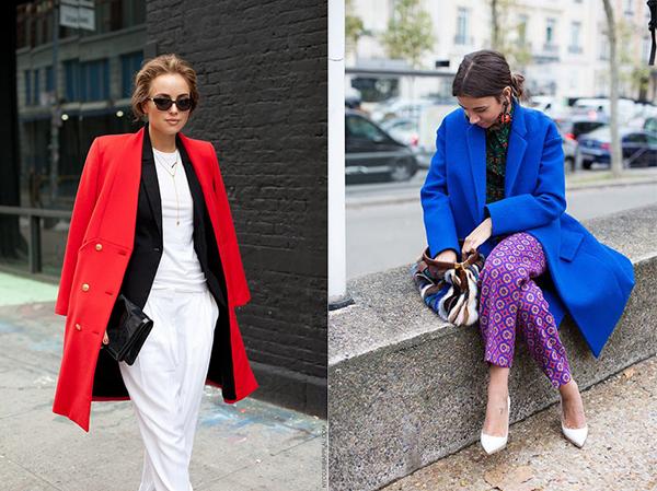 Как носить яркое пальто - фото №4