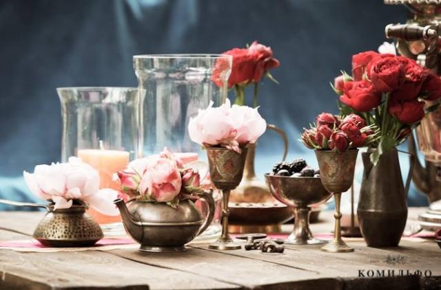 украшения стола свадьба фото
