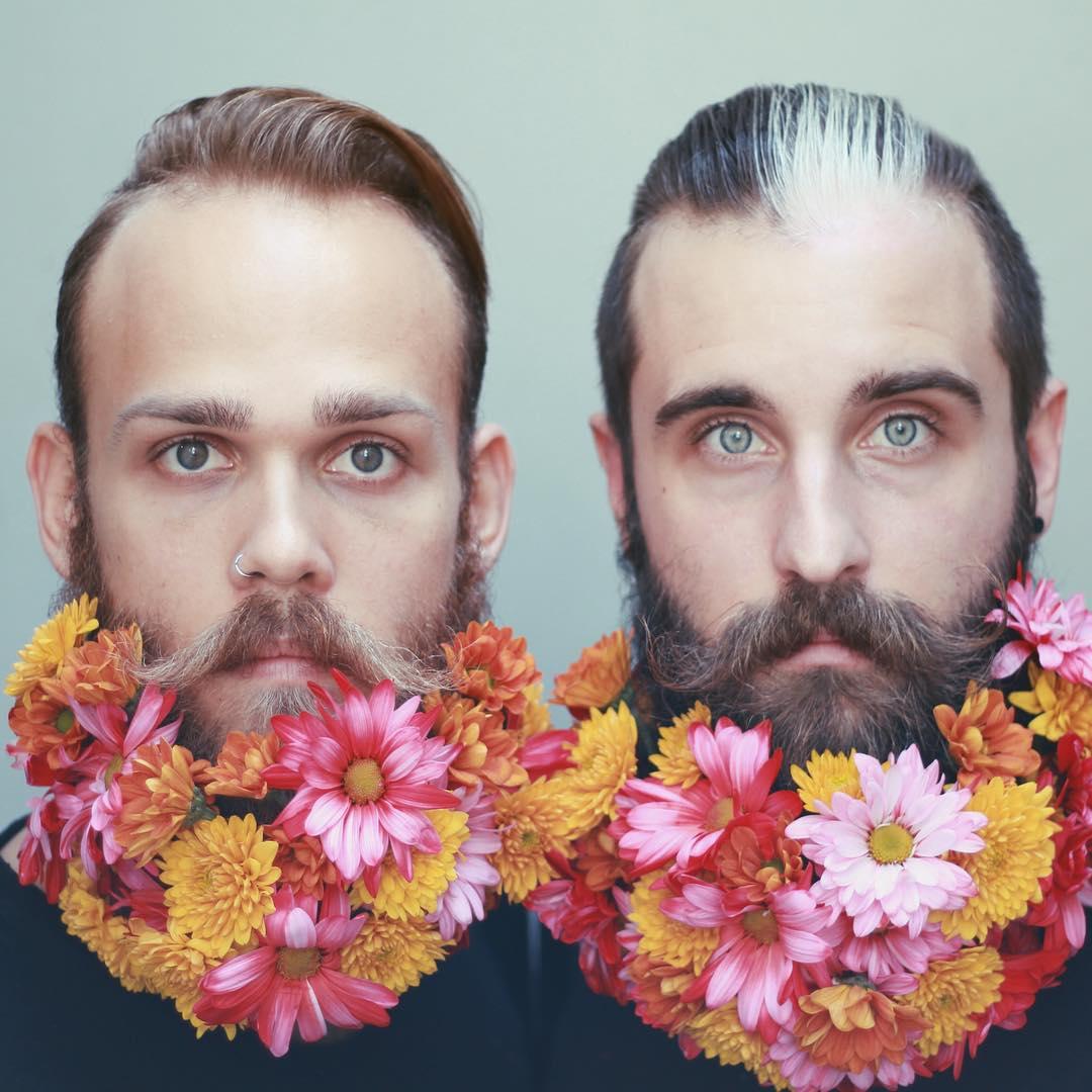 Блестки в бороду: два друга придумывают необычные украшения для своих бород - фото №5