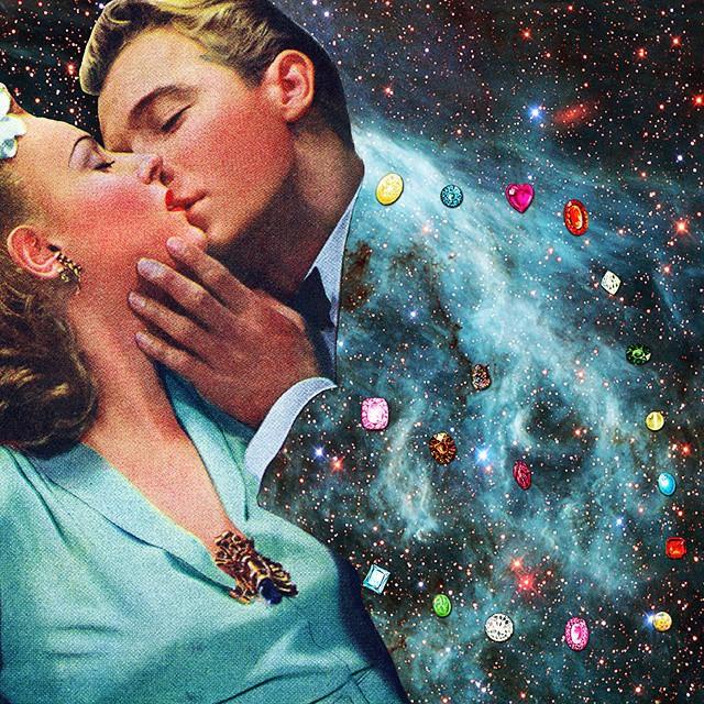 Любовь и космос: художница создает меткие коллажи в стиле сюрреалистического ретро - фото №2