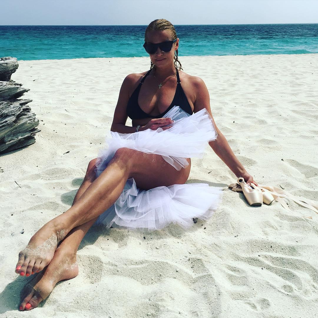 Волочкова на пляже