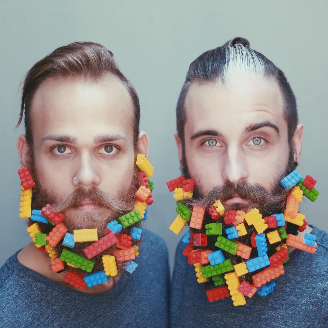 Блестки в бороду: два друга придумывают необычные украшения для своих бород - фото №4