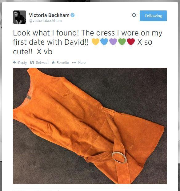 Виктория Бекхэм показала платье, в котором пошла на первое свидание к Дэвиду - фото №1