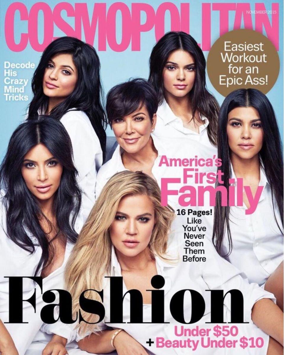 Семейство Кардашьян на обложке Cosmopolitan