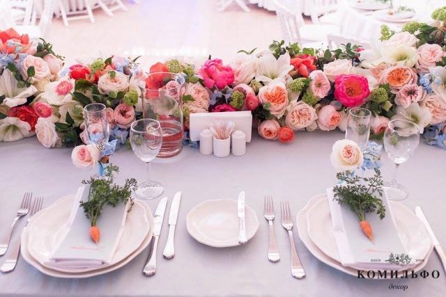 декор для свадебного стола фото