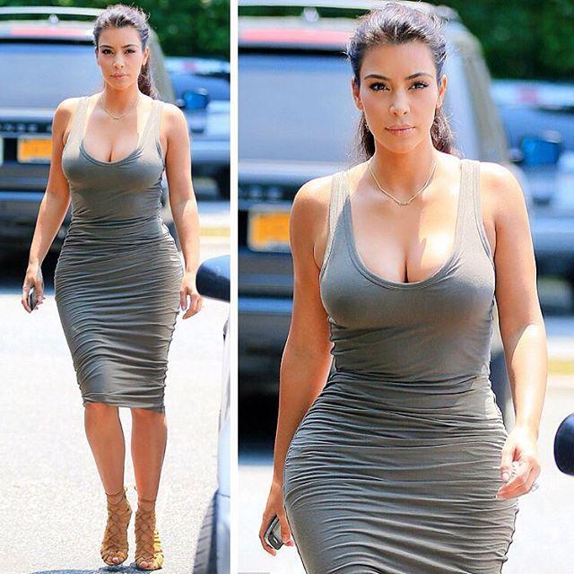 Звездное похудение: Ким Кардашьян похудела на 8 кг всего за 2 недели после родов - фото №1