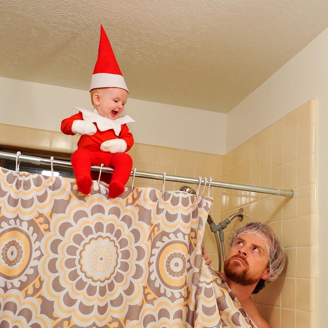 История одного эльфа: отец сделал серию фотографий своего ребенка к Рождеству - фото №4