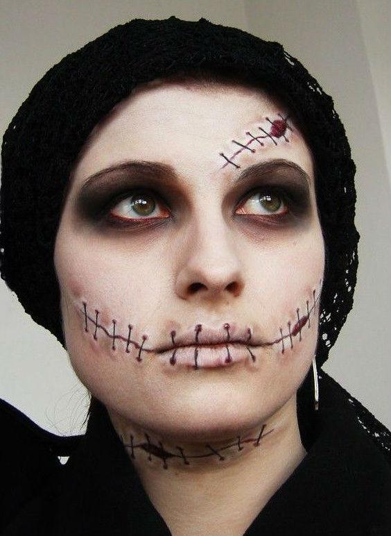 Варианты макияжа для праздника Хэллоуин 2013 - фото №3