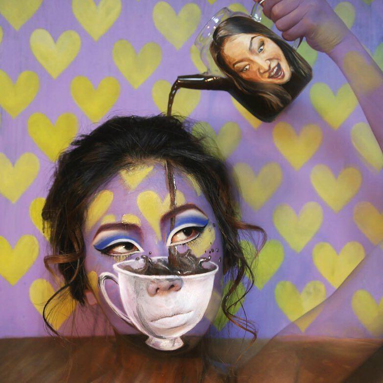 На холсте лица твоего: художница рисует на теле невероятные картины, которые играют с воображением - фото №1