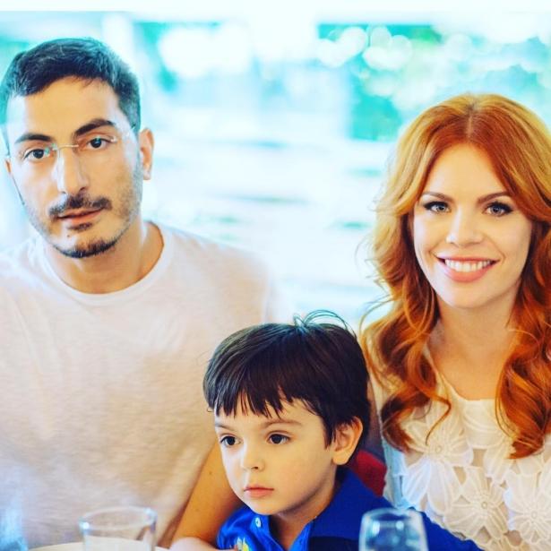 стоцкая с мужем и сыном