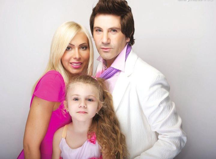 Руссо с семьей