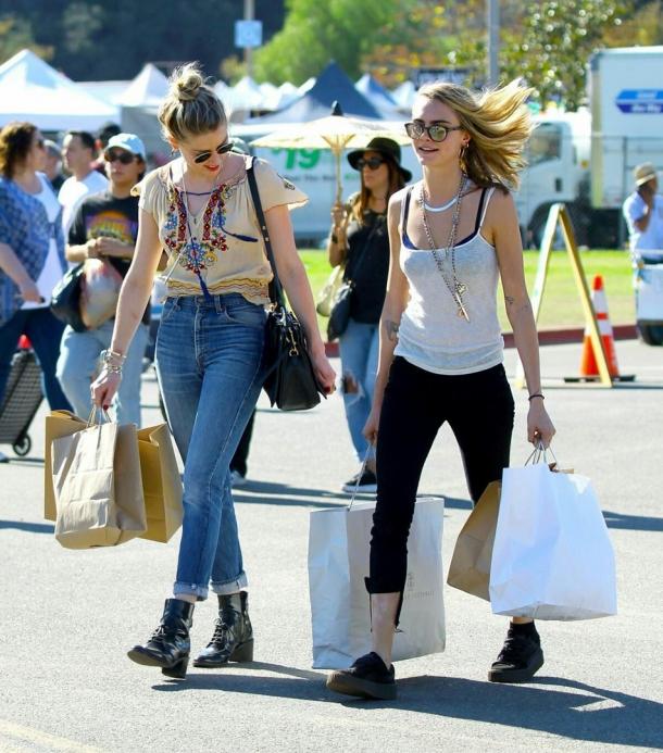 Влюбленные Эмбер Херд и Кара Делевинь сходили на шопинг (ФОТО) - фото №3
