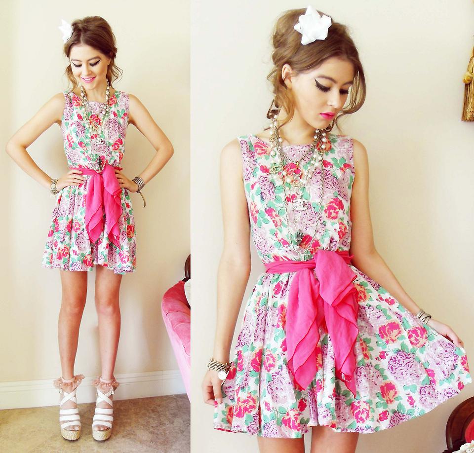 Модные платья в цветочек сезона весна-лето 2013 - фото №8