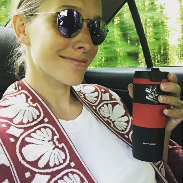 Катя Осадчая восхитила соцсети ФОТО со своим отцом-именинником - фото №2