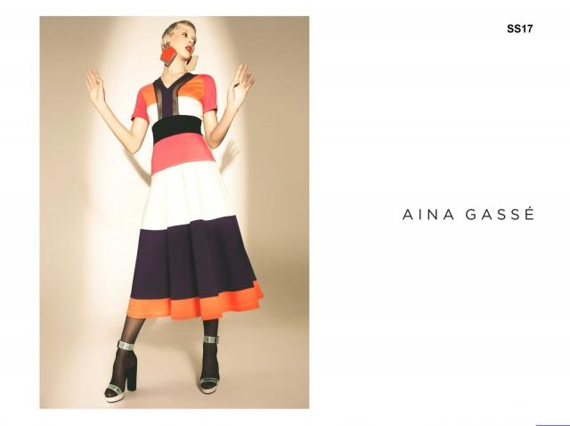 Победительница проекта Супермодель по-украински 3 сезон Маша Гребенюк в лукбуке украинского бренда Aina Gasse