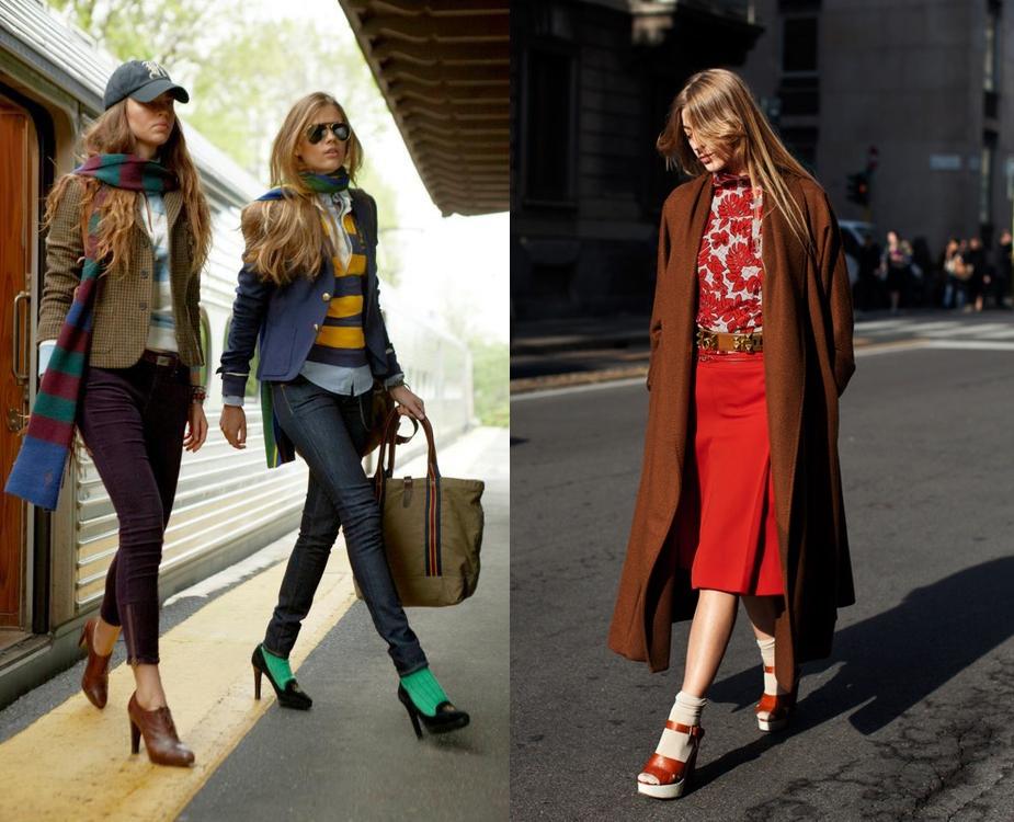 Как красиво носить колготки и носки - фото №3