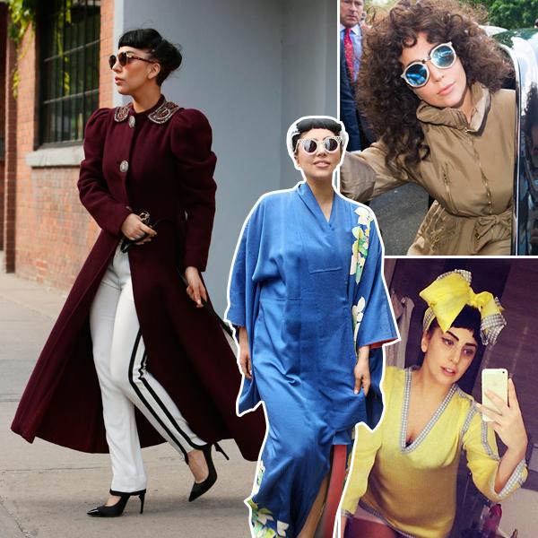 Леди Гага в винтажном стиле фото