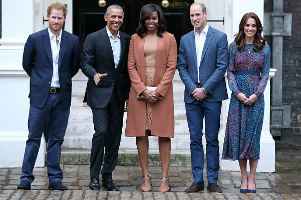 встреча Обамы и королевской семьи