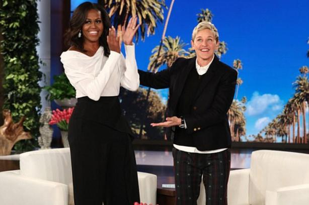 Мишел Обама и Эллен Дедженерес
