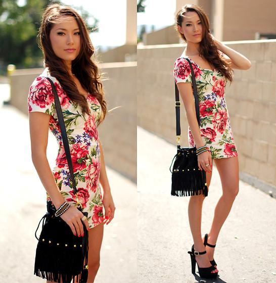 Модные платья в цветочек сезона весна-лето 2013 - фото №9