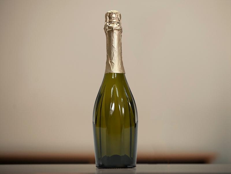 декупаж бутылки из-под шампанского