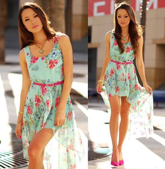 Модные платья в цветочек сезона весна-лето 2013 - фото №6