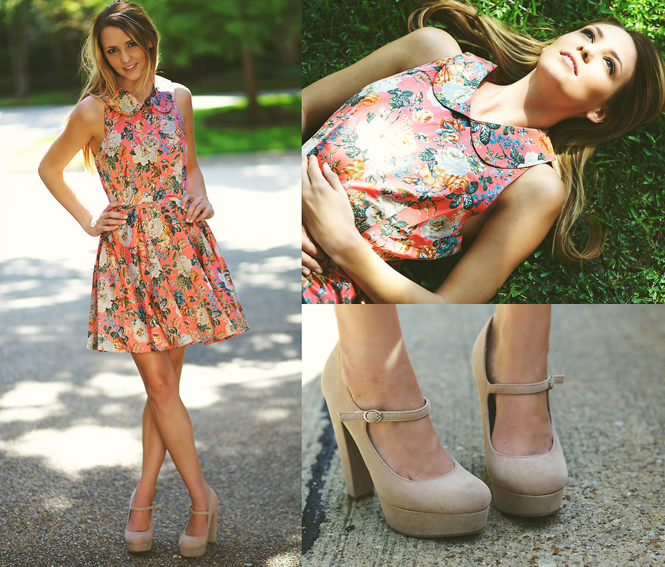 Модные платья в цветочек сезона весна-лето 2013 - фото №3