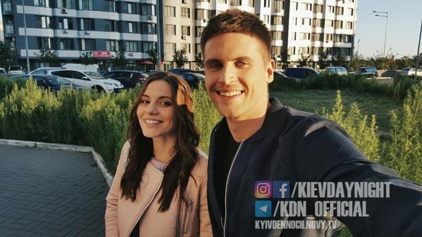 Оксана и Паша Киев днем и ночью